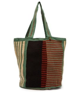Striped Woven Tote Bag by Guanabana