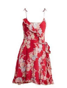 Heartbeats V Neck Floral Print Dress by Athena Procopiou