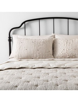 Comforter Set Simple Stripe With Stitch Embroidery   Hearth &Amp; Hand With Magnolia by Hearth & Hand With Magnolia