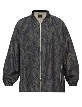 Paisley Jacquard Stand Collar Jacket by Needles