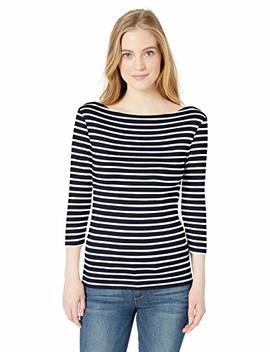 Amazon Essentials Women's Slim Fit 3/4 Sleeve Boatneck T Shirt by Amazon Essentials