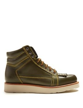 Contrast Stitch Leather Boots by Jw Anderson