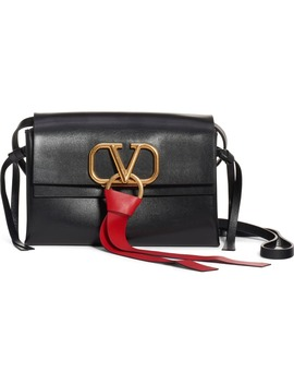 V Ring Leather Crossbody Bag by Valentino Garavani