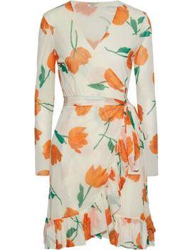 2fd7a158 Shoptagr | Floral Print Mesh Wrap Dress by Ganni