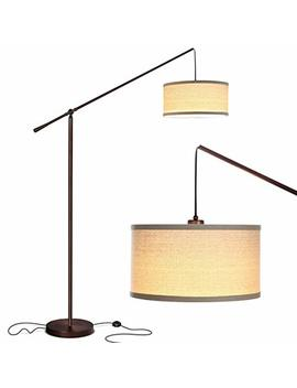 Brightech Hudson 2   Living Room Led Arc Floor Lamp For Behind The Couch   Pole Hanging Light To Stand Up Over The Sofa   With Led Bulb  Oil Rubbed Bronze by Brightech