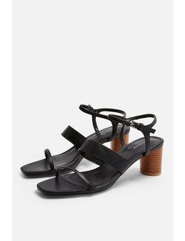 Dita Black Strap Sandals by Topshop