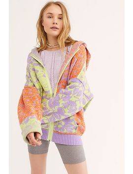 In Bloom Patterned Sweater Hoodie by Free People
