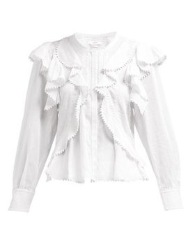 Alea Ruffled Cotton Blouse by Isabel Marant Étoile