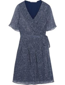 Katina Chiffon Silk Wrap Dress by Diane Von Furstenberg