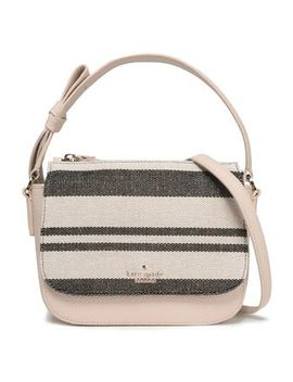 Leather And Canvas Shoulder Bag by Kate Spade New York