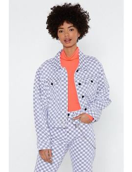 Worth Your Tile Checkerboard Jacket by Nasty Gal