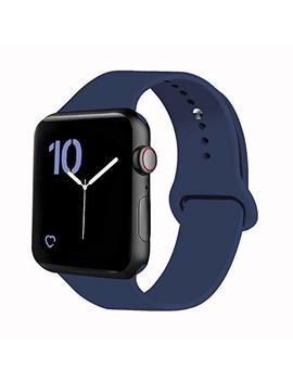 Vati Sport Band Compatible With Watch Band 40mm 44mm 42mm 38mm, Soft Silicone Sport Strap Replacement Bands Compatible With 2018 Watch Series 4/3/2/1, 38 Mm 40 Mm 42 Mm 44 Mm S/M M/L by Vati