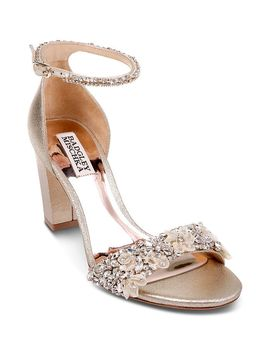 Women's Finesse Ii Embellished Block Heel Sandals by Badgley Mischka
