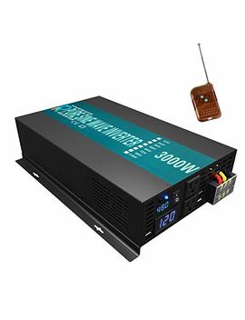 Wzrelb Reliable 3000 W Pure Sine Wave Solar Power Inverter 48 V 120 V 60 Hz Power Converter Led Display Dc To Ac Power Generator With 100ft Wireless Remote Controller by Wzrelb