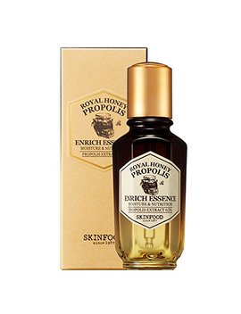 Skin Food Royal Honey Propolis Enrich Essence 1.69 Fl.Oz. (50ml)   63% Black Bee Propolis & Royal Jelly Extract Contained Powerful Nourishing Facial Essence, Skin Moisturizing & Radiant by Skin Food Since 1957