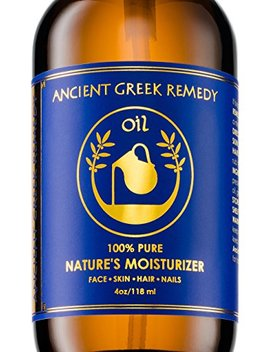 100% Organic Blend Of Olive, Lavender, Almond And Grapeseed Oils With Vitamin E. Daily Moisturizer For Skin, Hair, Face, Cuticle, Nail, Scalp, Foot. Pure Cold... by Bliss Of Greece