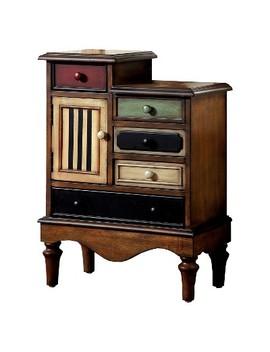 Sun &Amp; Pine Felicia Vintage 5 Drawer Accent Chest Multi Colored by Sun & Pine