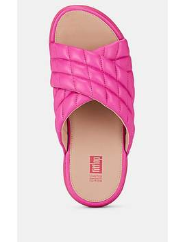 Loosh Luxe Quilted Leather Slide Sandals by Fitflop Limited Edition