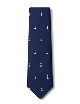 Men's Microfiber Checkmate Chess Game Pieces Novelty Tie Necktie by Wild Ties