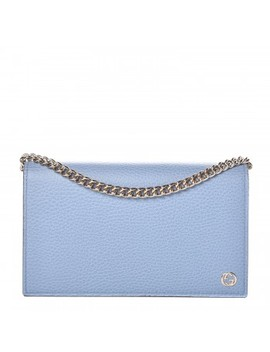 Gucci Dollar Calfskin Medium Betty Chain Wallet Blue by Gucci