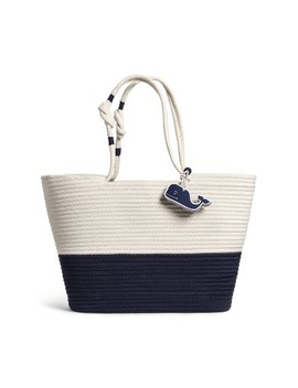 Rope Beach Bag With Whale Fob   Navy/Cream   Vineyard Vines® For Target by Navy/Cream