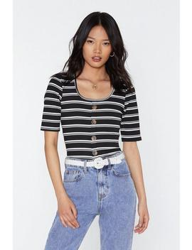 Cut In Line Striped Button Down Top by Nasty Gal