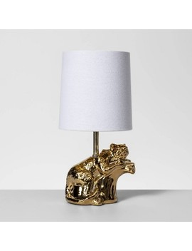 Brass Cheetah Table Lamp Gold (Lamp Only)   Opalhouse by Opalhouse