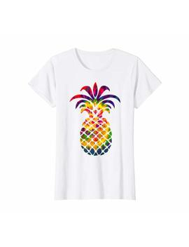 Unisex Men's Women's T Shirt Colorful Beautiful Pineapple by Fruitshirt