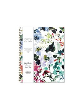 "2019 2020 Academic Planner 9""X 11"" Flexible Cover Floral Watercolor   Kelly Ventura For Blue Sky by 2020 Academic Planner 9""X 11"" Flexible Cover Floral Watercolor"