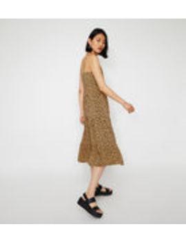 d4725b60ae1 Leopard Tiered Midi Dress by Warehouse