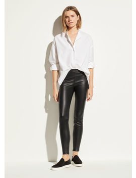 Leather Zip Legging by Vince
