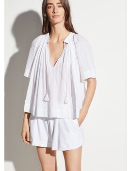 Short Sleeve Poet Blouse by Vince