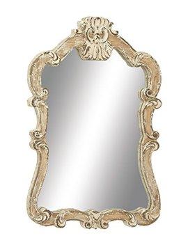 "Deco 79 18197 Wood Wall Mirror, 25"" X 39"" by Deco 79"