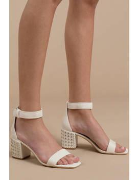Dolce Vita Dorah White Studded Heels by Tobi