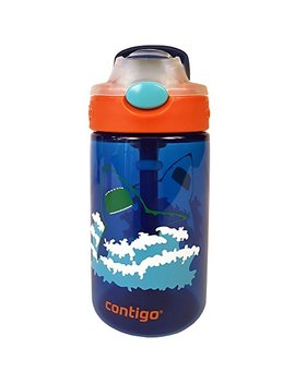 Contigo Autospout Straw Gizmo Flip Kids Water Bottle, 14 Oz, Blue by Contigo
