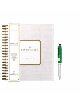 "Day Designer For Bluie Sky July 2019  June 2020 Academic Planner 9""X 10"" ( Blush Pink Or Golden Star Pattern)  And Stylus Pen With High Shine Finish From The Believer by Blue Sky"