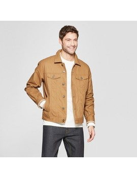Men's Canvas Trucker Jacket With Flannel Lining   Goodfellow &Amp; Co Tan by Goodfellow & Co Tan