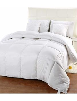 Utopia Bedding Comforter Duvet Insert   Quilted Comforter With Corner Tabs   Box Stitched Down Alternative Comforter (Queen, White) by Utopia Bedding