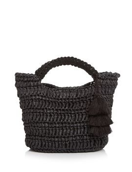 Maya Micro Mini Straw Tote by Fallon &Amp; Royce