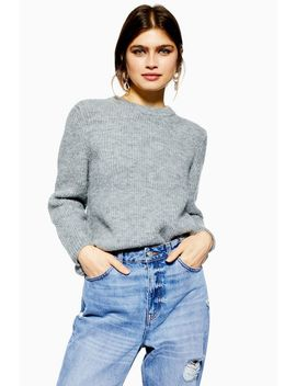 Petite Super Soft Ribbed Jumper by Topshop