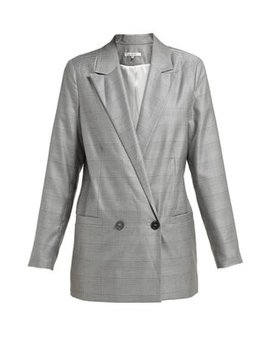 Merkel Double Breasted Silk And Wool Blend Blazer by Ganni