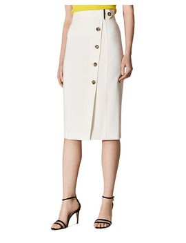 Button Front Pencil Skirt by Karen Millen