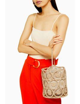 Sail Handmade Straw Bucket Bag by Topshop