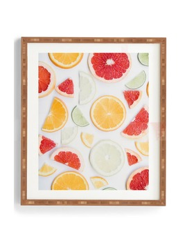 Citrus Fresh Framed Wall Art by Deny Designs