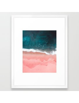 Turquoise Sea Pastel Beach Iii Framed Art Print by Society6
