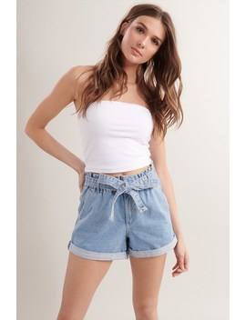 Paperbag Denim Short by Garage