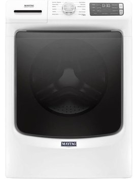4.8 Cu. Ft. 12 Cycle High Efficiency Front Loading Washer With Steam   White by Maytag