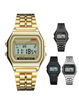 Waterproof Synoke Men's Stainless Steel Led Digital Sport Watch Alarm Wristwatch by Synoke