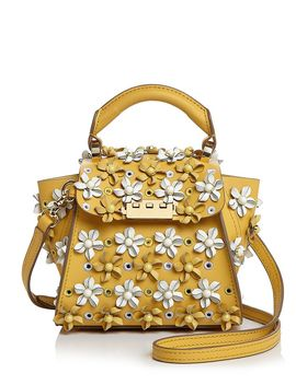 Eartha Mini Floral Appliqué Crossbody by Zac Zac Posen