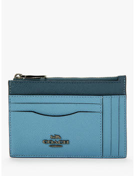 Coach Laminated Leather Large Card Case, Slate by Coach